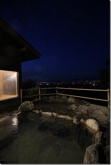みのう山荘の家族風呂の露天風呂
