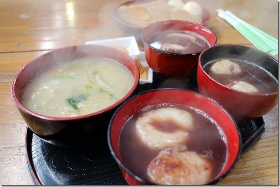 三瀬まっちゃんの豚汁、ぜんざい