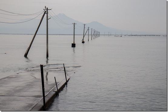 熊本 天草の海上電線