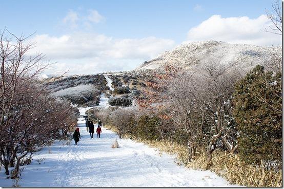 冬の阿蘇・久住旅 牧ノ戸峠で雪遊び