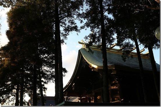 宮地岳神社の夕暮れ