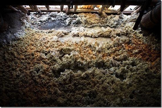 明礬温泉の湯の華