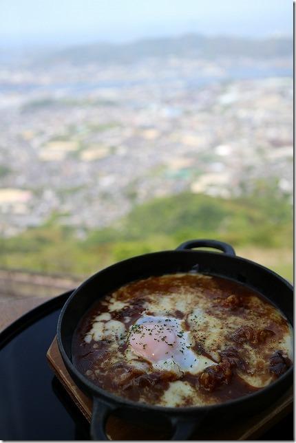 皿倉山展望レストランで焼きカレー