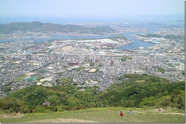 皿倉山の頂上からの眺め