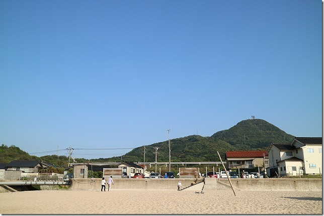 鳴き砂 琴ヶ浜の駐車場