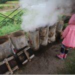 豊礼の湯で地獄蒸しと家族風呂(露天)