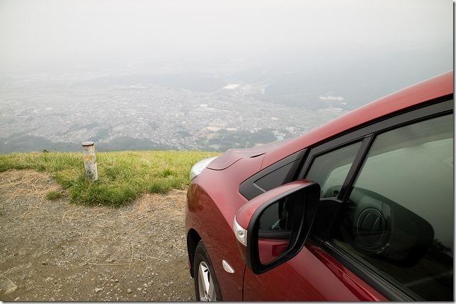 米山展望台へ車で