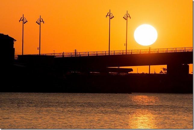 芦屋の夕日