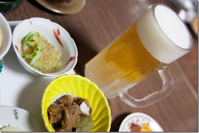 筋湯温泉 名山の生ビール