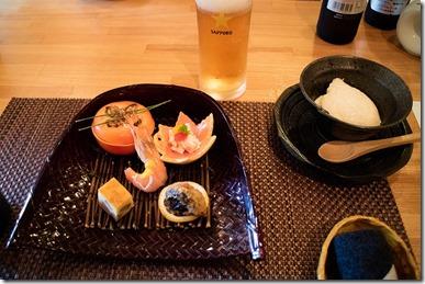 宇佐 竹贅 懐石コースの前菜