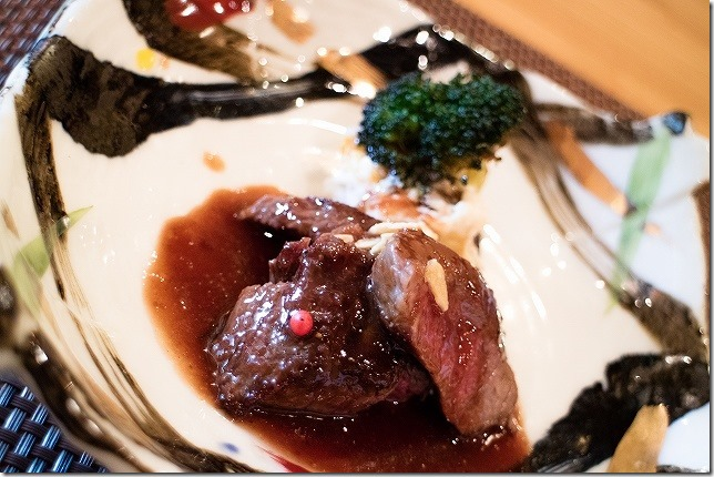 宇佐 竹贅 懐石コースのお肉