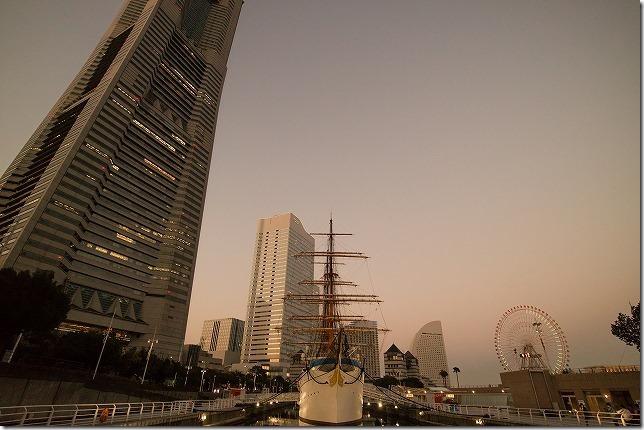 日本丸の黄昏時