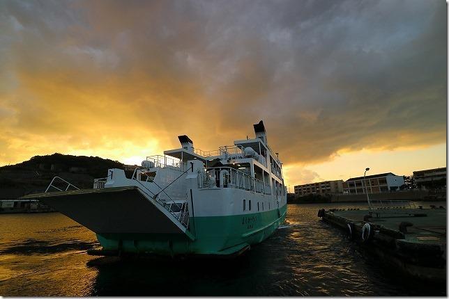 池島港のフェリー