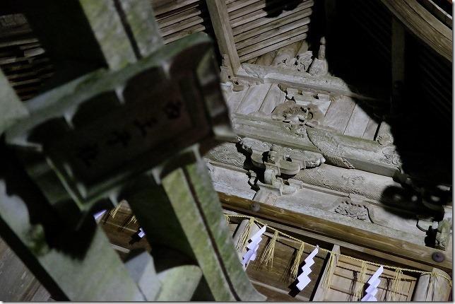 飯盛神社の夜