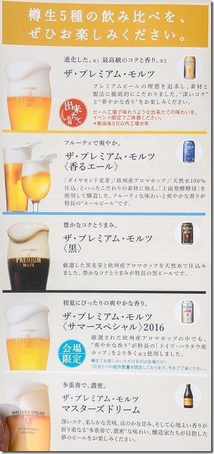 サントリービールの種類、飲み味紹介