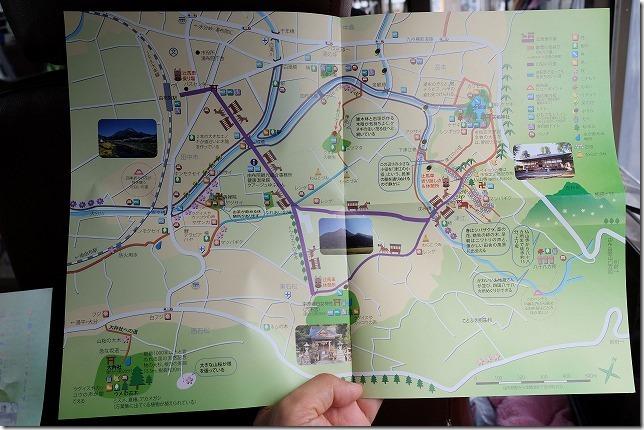 湯布院、辻馬車のコース地図