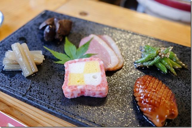 宇戸の庄の夕食・前菜