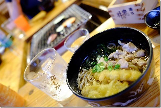宇戸の庄の夕食・キジ蕎麦
