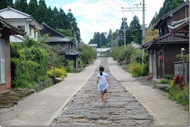 今市の石畳の道