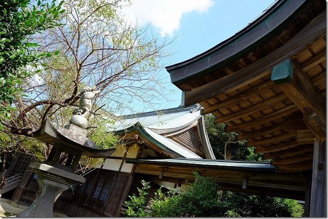 加部島の田島神社の本殿