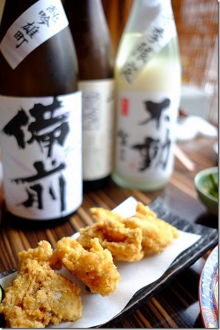 なごみ悠庵のポンパレふぐコースの日本酒で