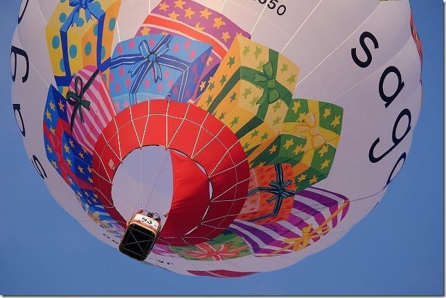 佐賀バルーンフェスタ、上空の気球