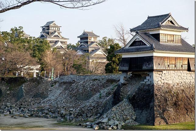 熊本城見学と被害