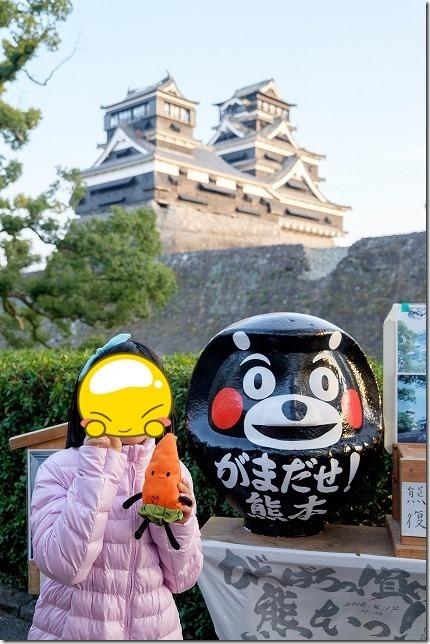 加藤神社から熊本城の天守