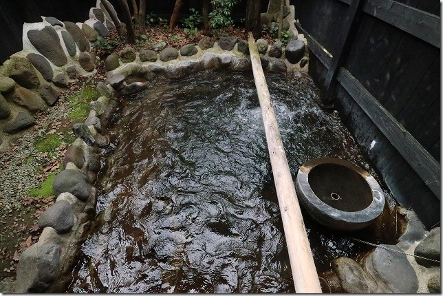 杖立温泉、米屋別荘の家族風呂の立ち湯
