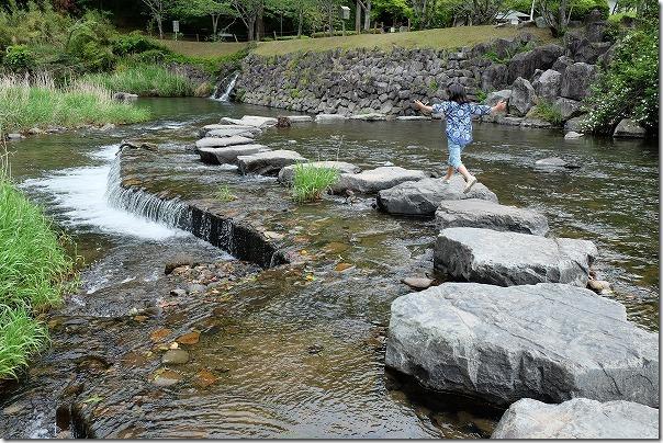 清水磨崖仏(岩屋公園)で川遊び