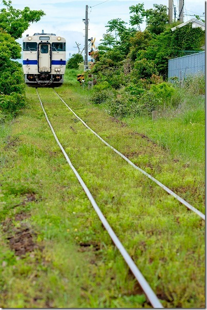 JR最南端の駅の西大山駅に入る列車