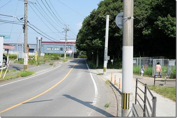 篠栗九大の森の北口駐車場の入り口
