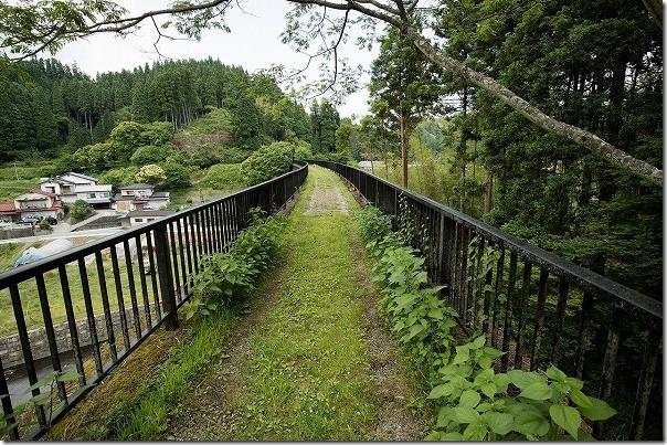 幸野川橋梁を渡る