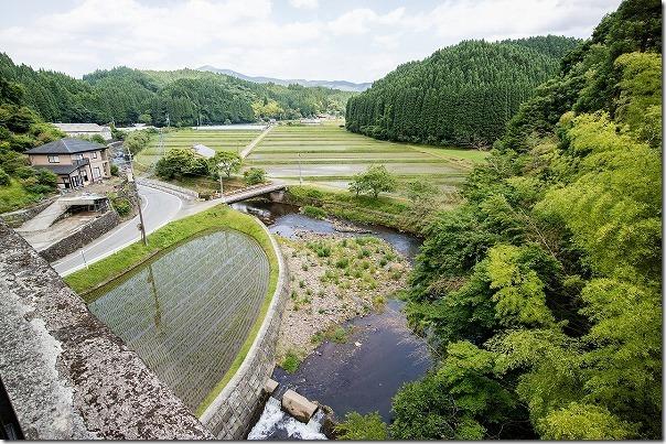 幸野川橋梁の上から見た景色