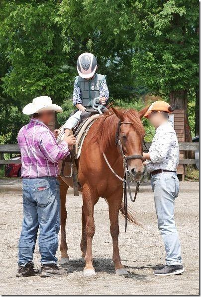 九重エルランチョグランデで子供の乗馬