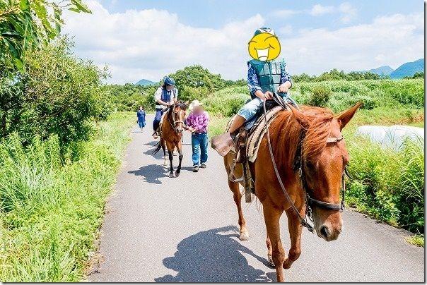 九重エルランチョグランデで子供の乗馬30分コース
