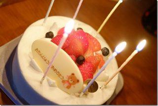 糖質制限し低カロリーのホールケーキを誕生日に!(大分県別府市)