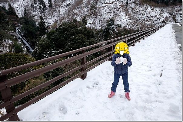 雪の観音の滝、七山