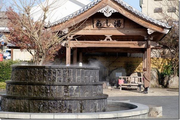 山鹿温泉、足湯