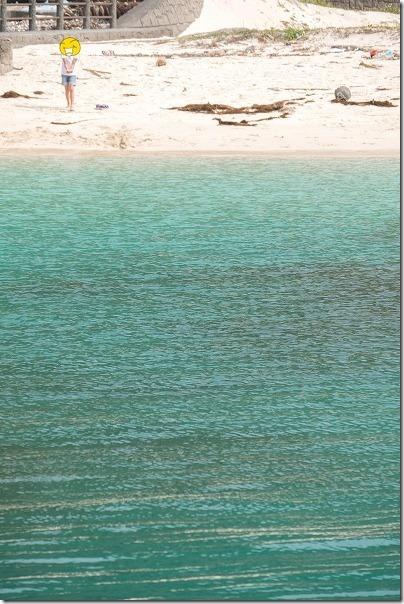奄美大島,タエン浜海水浴場で水遊び
