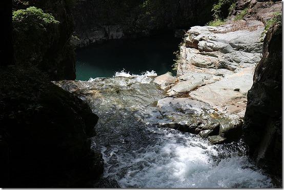 龍王峡の流れ