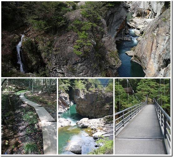 龍王峡 むささび橋まで