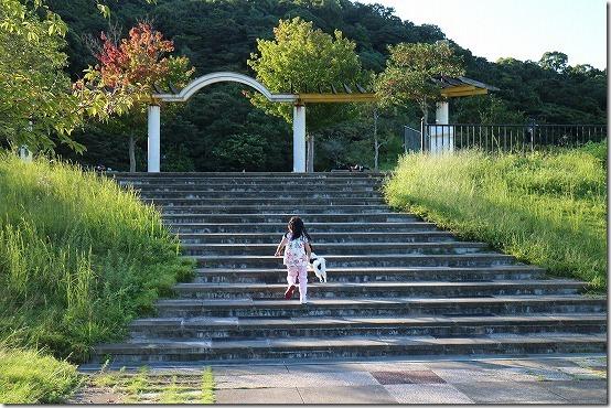 生松台中央公園を犬連れて散歩 福岡