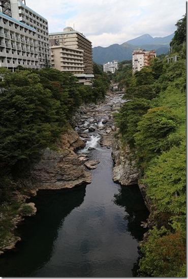鬼怒川温泉 くろがね橋からの眺め