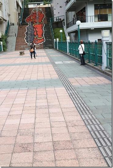 鬼怒川温泉 ふれあい橋の鬼