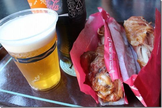 ディズニーシーでスモークターキーとビール
