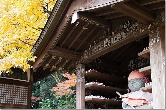 本土寺の紅葉 お地蔵さん