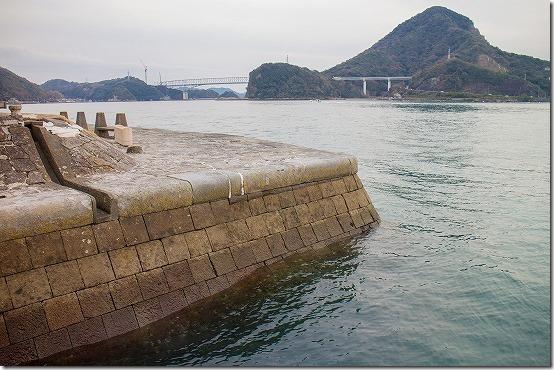 三角西港からの眺め 天草五橋