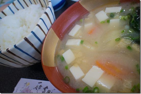 天草 なかしま荘の朝ごはん お味噌汁
