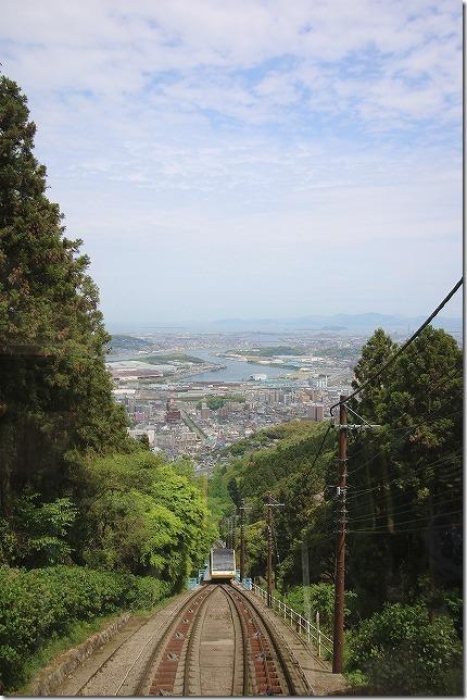 皿倉山ケーブルカーからの眺め